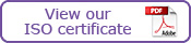 View our ISO certificate